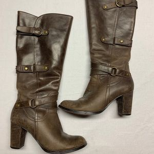 Nine West Leather High Heel Boots 8